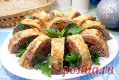 Мясной рулет с грибами и сыром – Рецепт с фото. Рецепты. Закуски