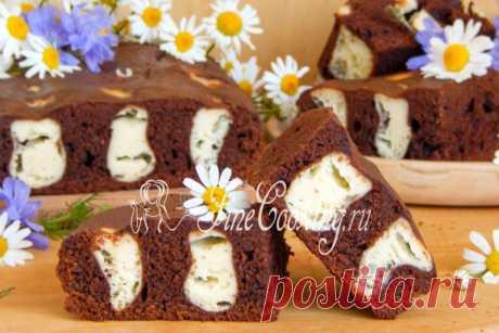 """Шоколадно-творожный пирог """"Лисьи норы""""- контраст цветов, тонкий шоколадный аромат и изумительный вкус"""