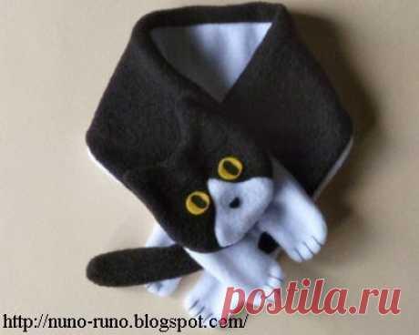 Оригинальные шарфы в виде кошек — Сделай сам, идеи для творчества - DIY Ideas