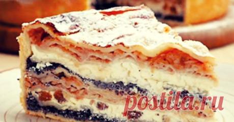 Изумительно вкусный балканский пирог с творогом и яблоками.