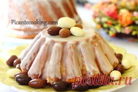 Розкішна паска (Babka luksusowa) Надзвичайно пухка, розкішна, в міру солодка великодня паска або ж бабка на жовтках, з цукатами, за польською рецептурою.