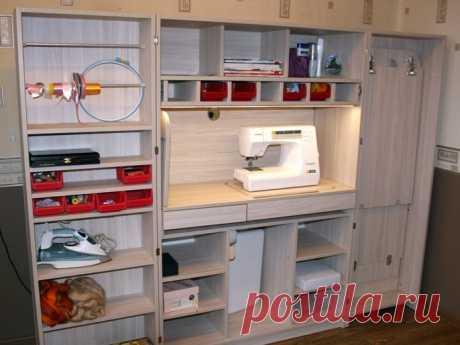 Раздвижной шкаф для швейных принадлежностей — Pro ремонт