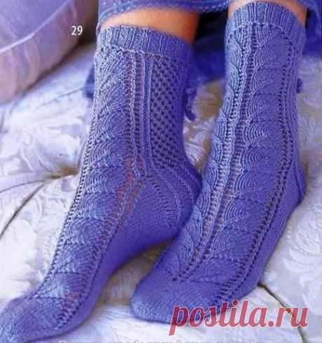 Вяжем лавандовые носочки из категории Интересные идеи – Вязаные идеи, идеи для вязания