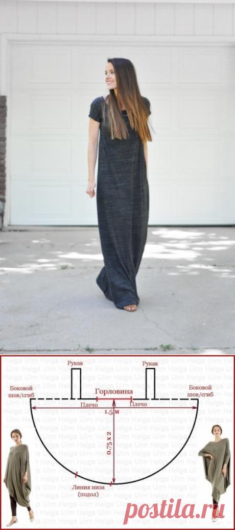 Туника и платье из трикотажа своими руками (выкройки) | Рукоделие