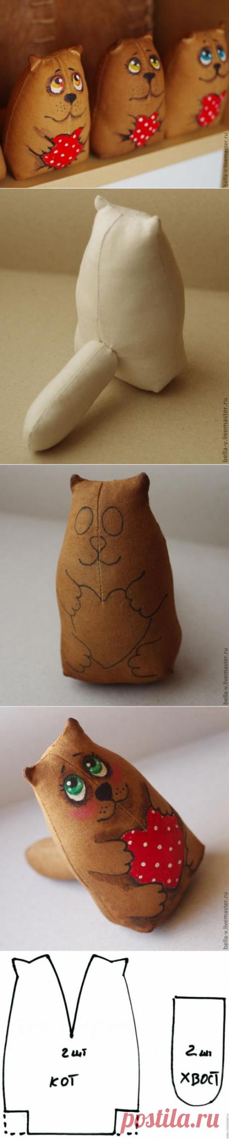 Откормленный кофейный кот.Мастер-класс