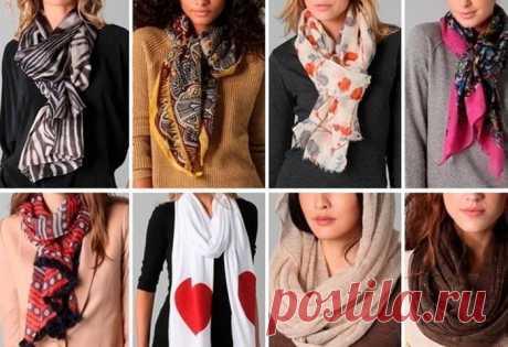 Как красиво завязать шарф на шее поверх куртки и создать неповторимый креативный образ за несколько минут