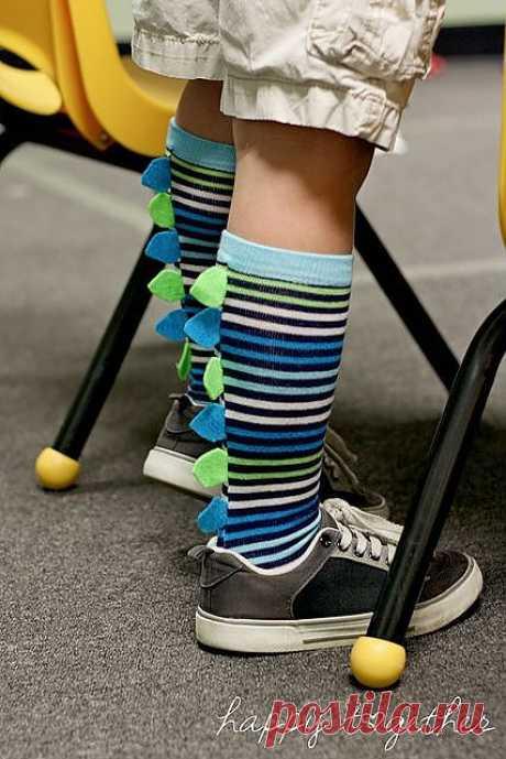 Носочки с декором:-) / Для детей / ВТОРАЯ УЛИЦА