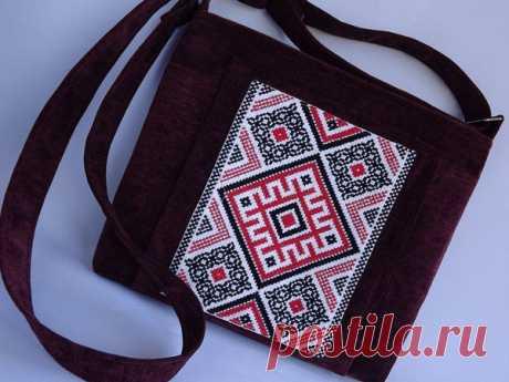 Шьем сумочку с вышивкой в славянском стиле