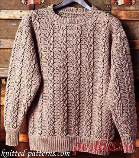 Пуловер Араны крючком