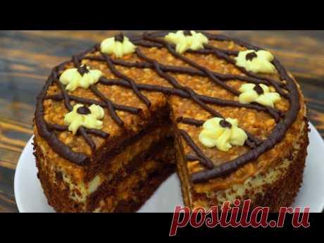 Торт ОРЕШЕК в КАРАМЕЛИ Потрясающий вкус!!!   Кулинарим с Таней