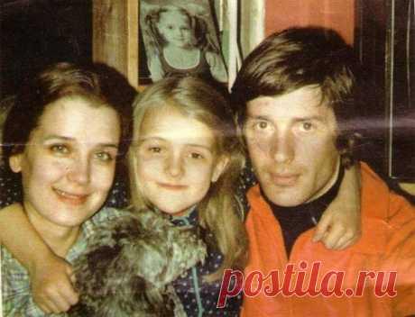Александр Абдулов и Ирина Алферова с дочерью Ксенией