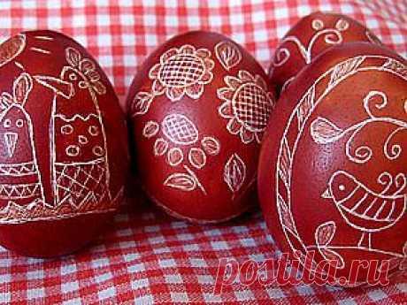 Украшение пасхальных яиц в технике драпанка. - Ярмарка Мастеров - ручная работа, handmade