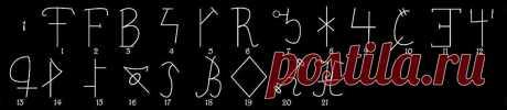 Литеры черных людей. Ряд 1. | A r c h a i c H e a r t