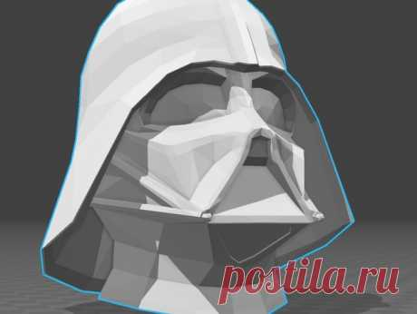 """Darth Vader by Jace1969 An old file from my Pepakura making days that I discovered in Pepakura Designer you can export to .OBJ and in """"Windows 10 3DBuilder or 123Design"""" export to .STL. Unfortunately I don't have the skills yet to improve further on the model, but maybe someone out there would like to tidy it up. Please upload it back as a remix if you do take the time to clean it up. Please note this was originally uploaded to the net as a free down load. So I cant take c..."""