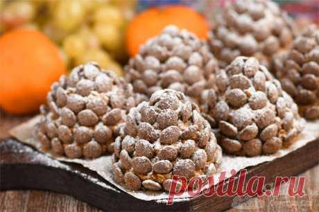 """Пирожные """"Шишки"""" без выпечки и из 3 продуктов (рецепт с фото)   Совет да Еда   Яндекс Дзен"""