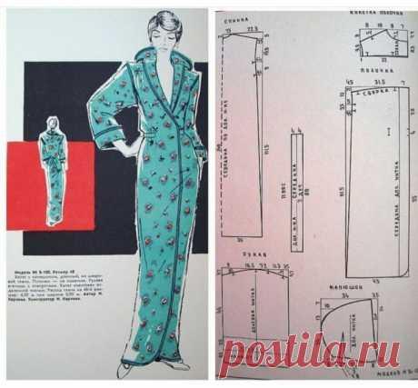 Выкройка длинного халата с капюшоном Модная одежда и дизайн интерьера своими руками