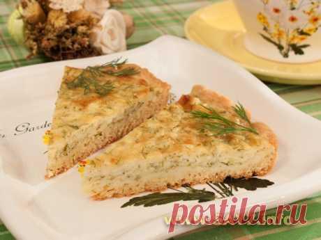 Невероятно вкусный пирог с сыром и творогом