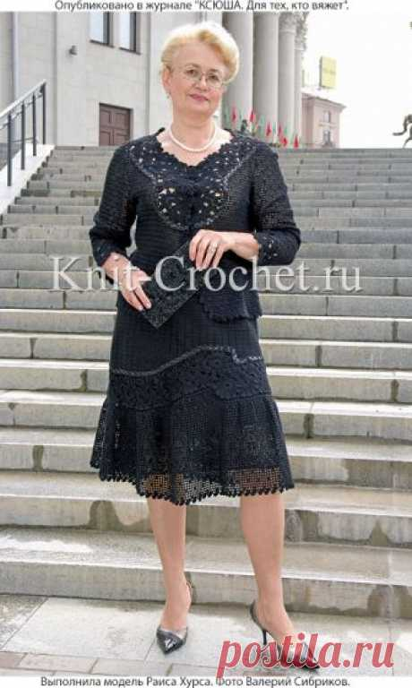 Elegant suit: jacket and skirt hook. - Jackets female a hook - Knitting by a hook - the Catalogue of articles - Knitting by spokes and a hook