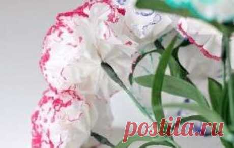 How to make a carnation of napkins. A master class with video