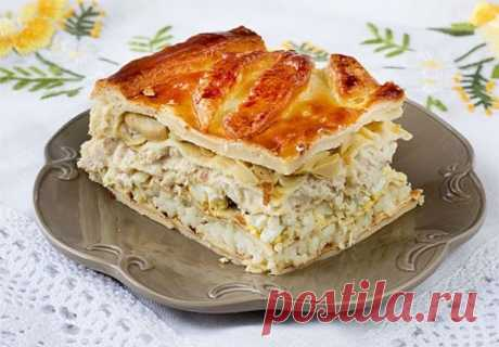 Кулебяка – блюдо сытное и очень вкусное