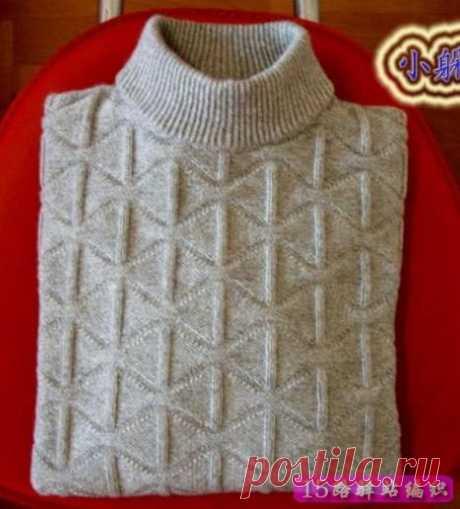 Узоры для мужских свитеров и жилеток
