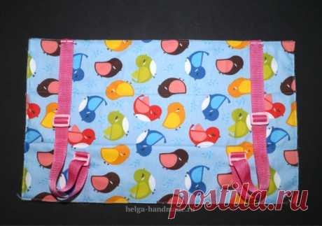Как сшить летнюю сумку-рюкзак из ткани, Мамин Креатив  Как сшить сумку-рюкзак из ткани. Выкройка из азиатских журналов по рукоделию. Клапан украшен вышивкой крестиком.