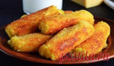 Картофельные Палочки с Сыром Просто и Вкусно Картофельные палочки с сыром в панировочных сухарях - очень простой пошаговый рецепт с фото. Палочки получаются хрустящими снаружи и очень сочными внутри.