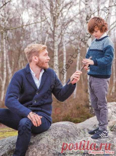Лаконичный мужской жакет спицами - Вязание - Страна Мам