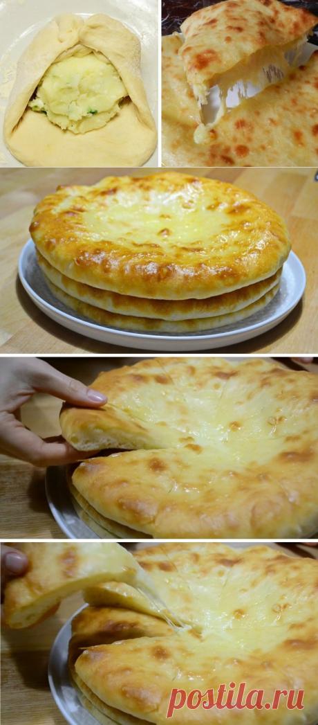 Ароматные грузинские лепешки с картофелем и сыром. Начинка тает во рту!