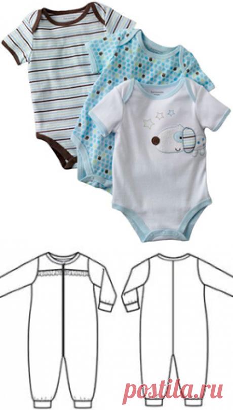 Выкройка ползунков для новорожденного | pokroyka.ru-уроки кроя и шитья