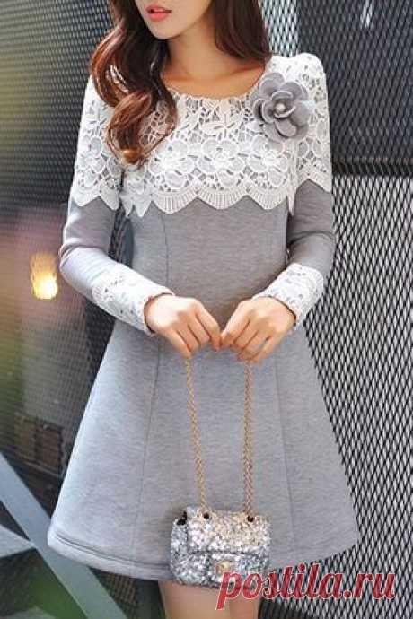 Идеи платьев с отделкой кружевом