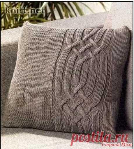 . Подборка чехлов на диванные подушки спицами (часть 4) - Вязание - Страна Мам