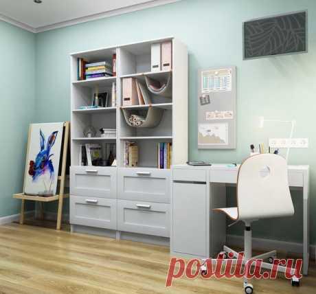 Проект детской комнаты, 9,5 кв.м, г. Москва Стиль современный, вся мебель из магазина ИКЕА Автор проекта — Вера Камаева