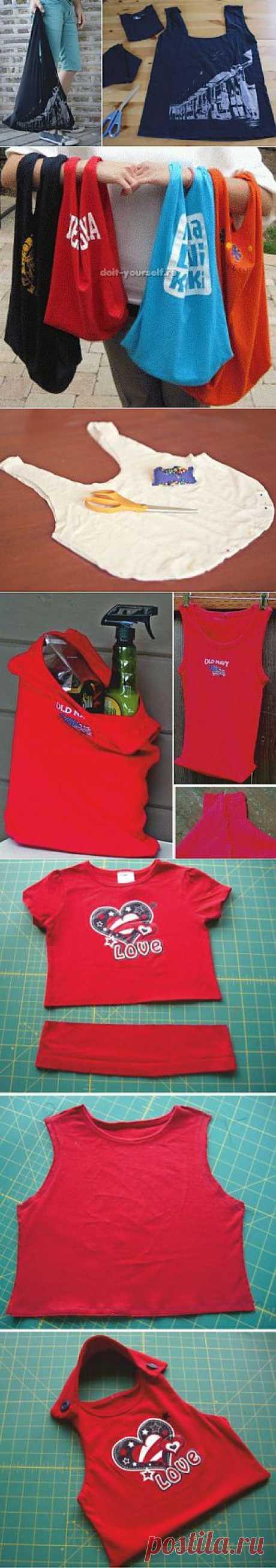 Сумки и авоськи из футболок