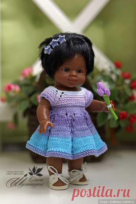 """Вязаное платье """"Первоцветик"""" - одеваем всех от мала до велика! [Совместное творчество] / Онлайн совместное творчество / Бэйбики. Куклы фото. Одежда для кукол"""