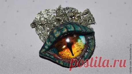 Мастер-класс смотреть онлайн: Видео мастер-класс: лепим кулон «Глаз дракона» | Журнал Ярмарки Мастеров