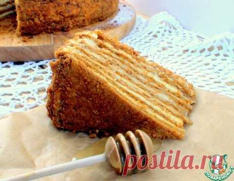 """Карамельный торт """"Медовик"""" с апельсиновым кремом – кулинарный рецепт"""