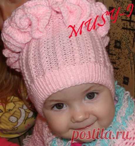 шапочки спицами для девочки: 14 тыс изображений найдено в Яндекс.Картинках