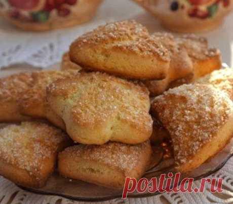 Быстрое Печенье на сметане с хрустящей сахарной корочкой | просто здорово! | Яндекс Дзен