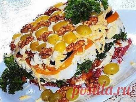 Рецепт - Салат «Танго». Как приготовить: салат, закуску, напиток, десерт, соус, выпечку, первое, второе блюдо. Фото рецепта