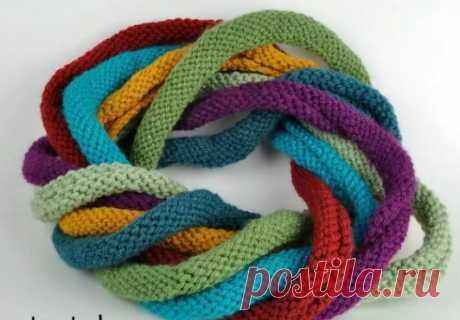 Оригинальный шарф спицами — Сделай сам, идеи для творчества - DIY Ideas