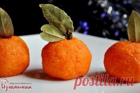 Интересные закуски на Новый год - сырные мандаринчики
