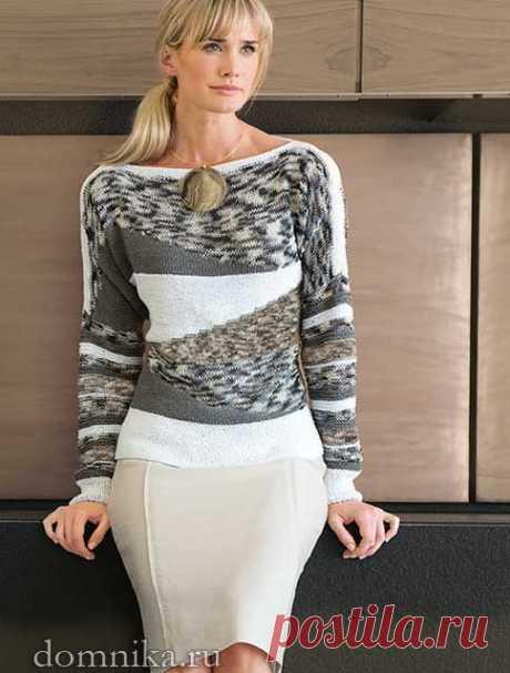 Элегантный пуловер спицами I вязание спицами для женщин