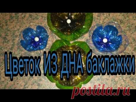 Цветок ИЗ ДНА баклажки. Flower FROM DNA Bottles