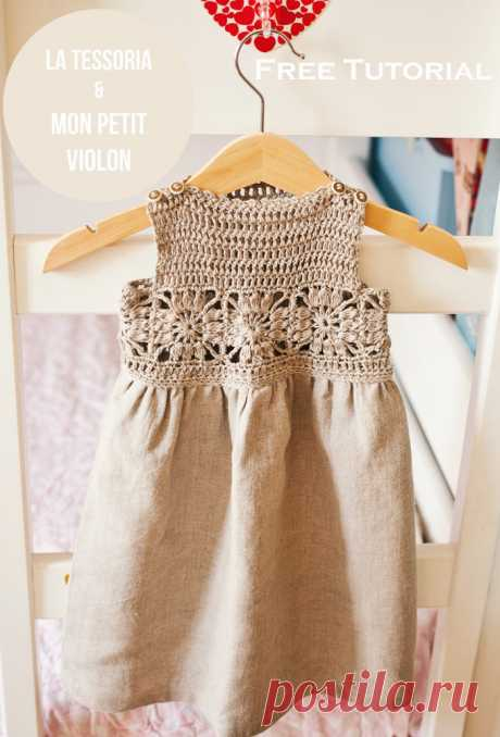 Mon Petit Violon | Free crochet tutorial - Granny Sqaure dress by Mon Petit Violon