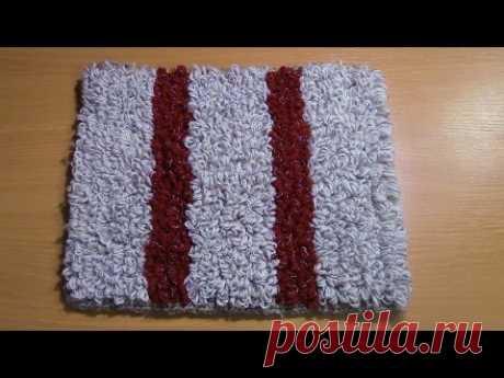 Вязание коврика на резиновой основе  Часть 1 из 6 - YouTube
