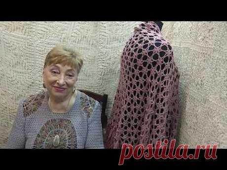 """Шаль """"Цветы"""". Мастер-класс по вязанию крючком от О. С. Литвиной."""