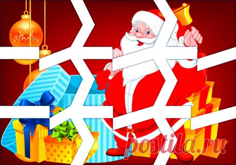 Разрезная картинка Дед мороз