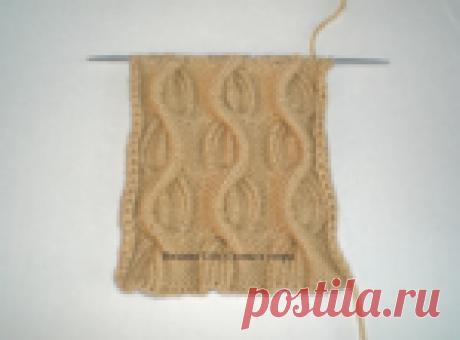 Шикарный, необычный, рельефный узор - описание и схема вязания спицами