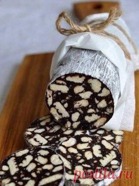 Шоколадная Салями – эффектно, вкусно, быстро | Готовим классно
